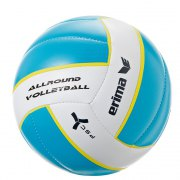 Ballon de volleyball ALLROUND Erima taille 5 aqua/blanc -