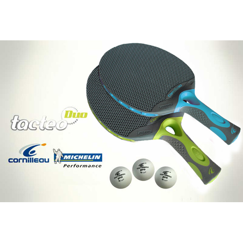 Set de raquettes de tennis de table cornilleau tacteo duo - Raquette de tennis de table cornilleau ...